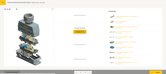 3D model in new Han® configurator provides users with a continuous overview