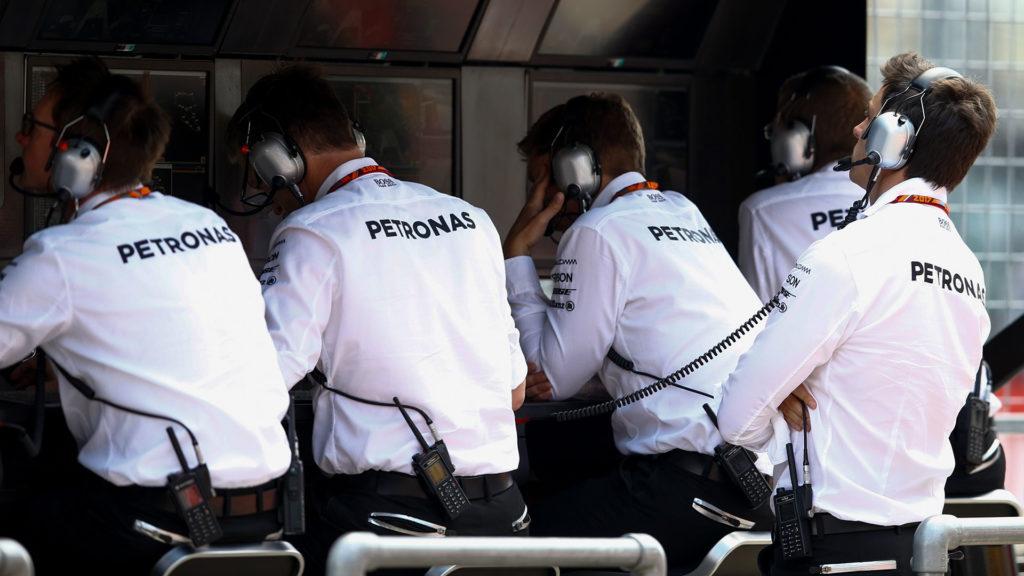 Mercedes-AMG Petronas Motorsport Pit wall
