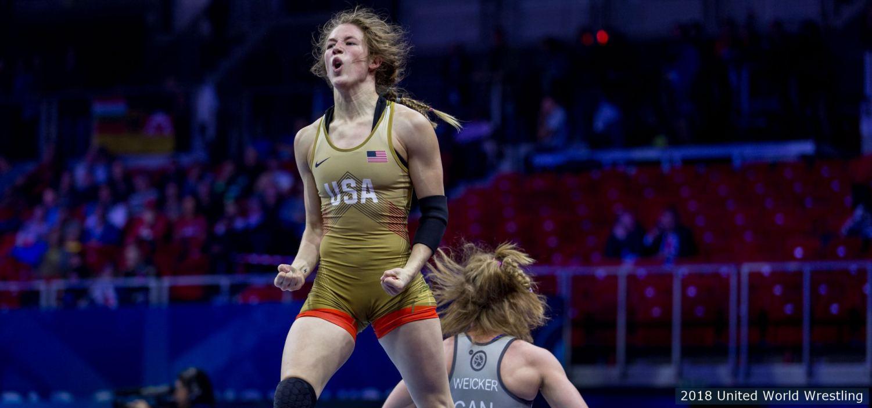 Sarah Hildebrand (credit United World Wrestling)