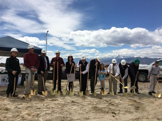 Colorado Springs Ground Breaking for First National Bank of Flying Horse