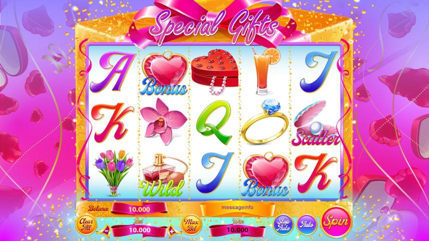 """Game design for casino online slot """"Special Gifts"""""""