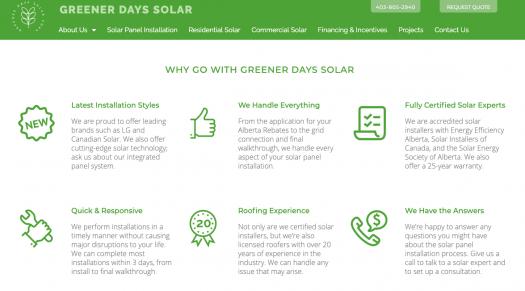 Greener Days Solar New Website