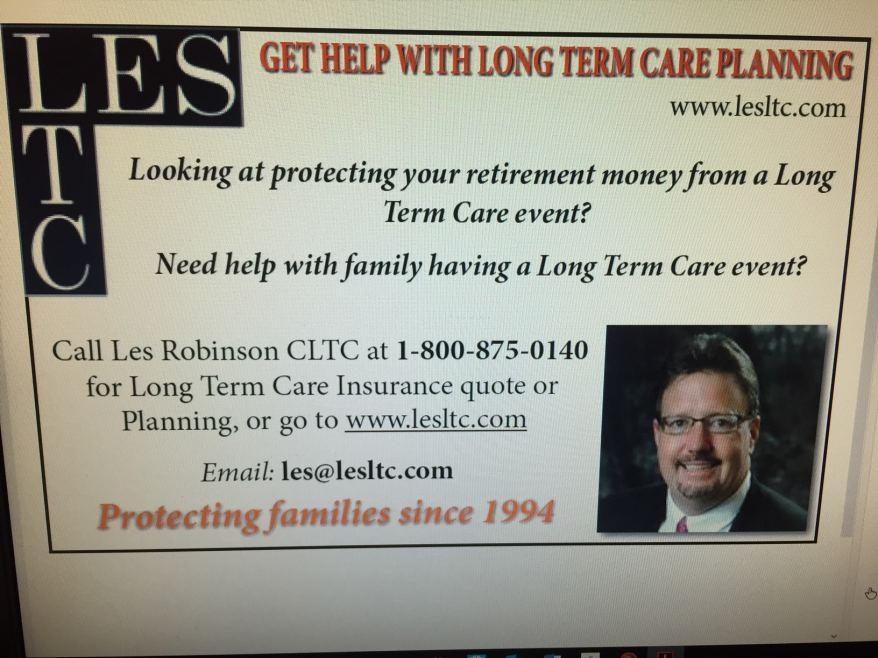 Les Robinson CLTC Long Term Care Insurance