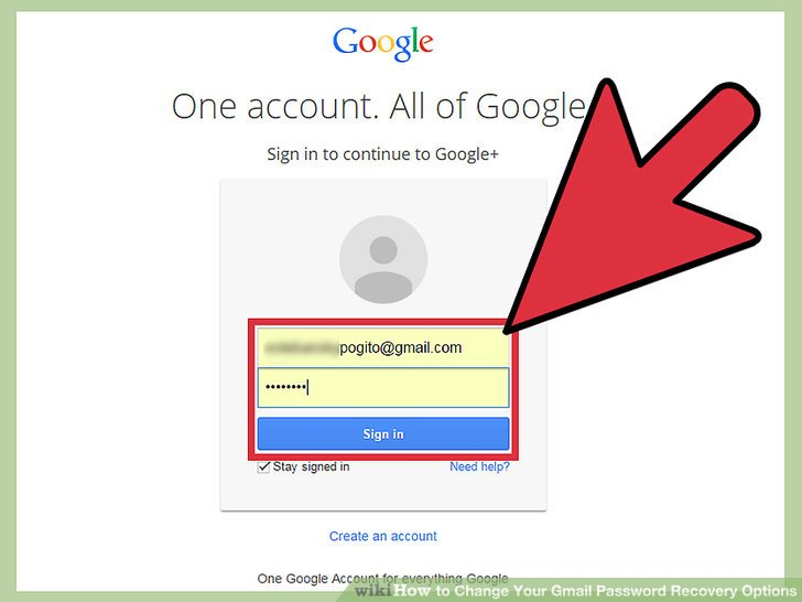 Gmail Password recovery oprions