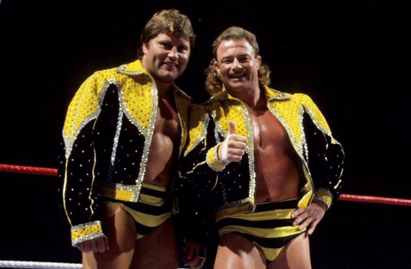 Ex-WWE Superstar B Brian Blair (Rt) and partner Jim Brunell