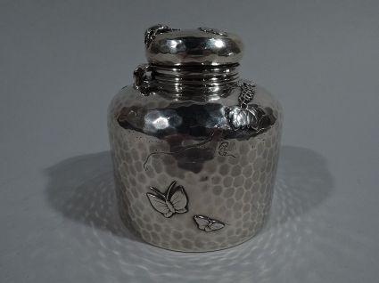 large tiffany antique silver sterling silver inkwe