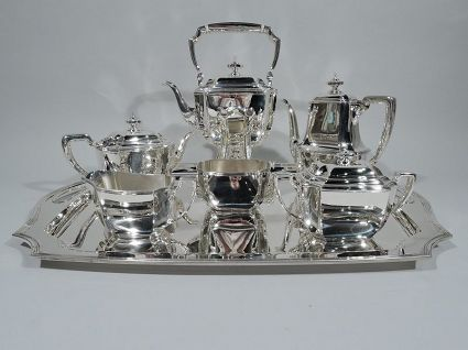 art deco antique tiffany sterling silver coffee an