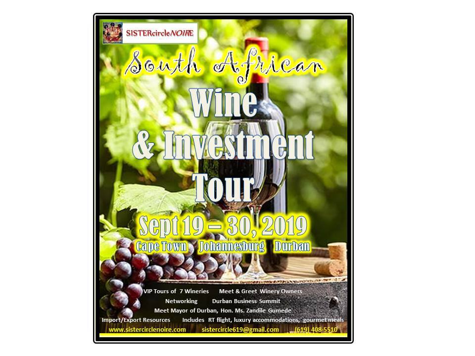 September 2019 Sister Circle South Africa Wine & Investment Tour