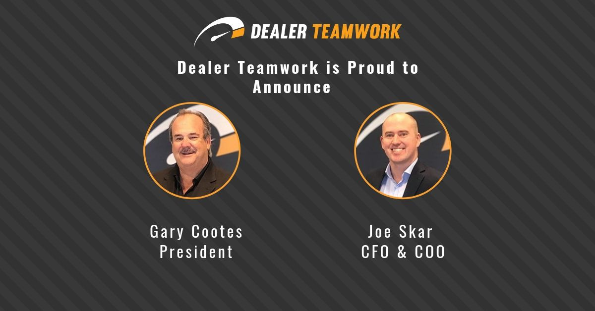 Gary Cootes (left) promoted to President and Joe Skar (right) to COO and CFO.