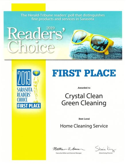 Readers Choice Award  Best House Cleaning Service - Crystal Clean Green Cleaning