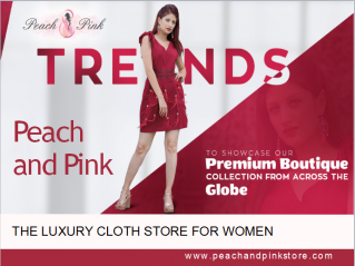 peach and pink store banner
