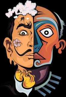 Salvador Dali and Pablo Picasso