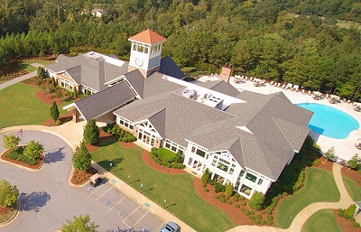 Aerial View of the Clubhouse at Del Webb at Lake Oconee in Greensboro