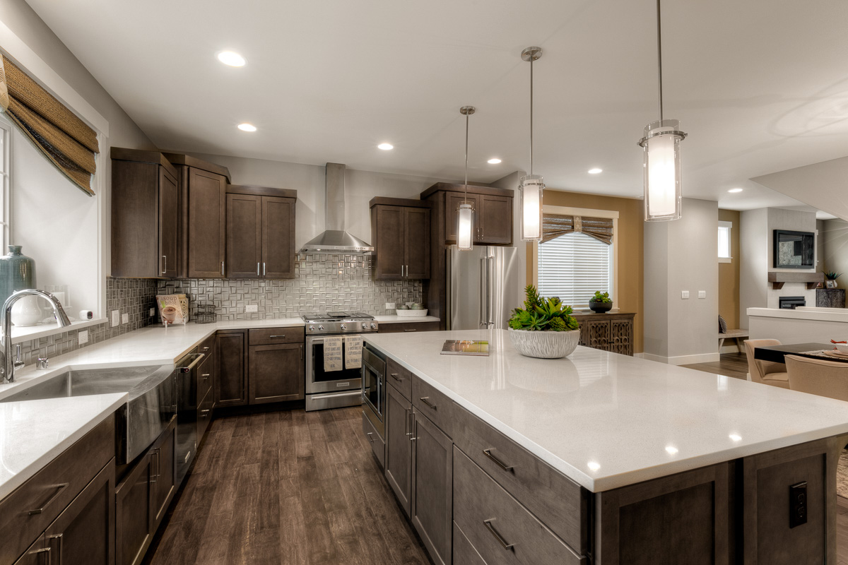 2418 Plan Model Home Kitchen at Summerland
