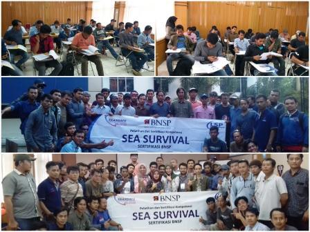 sea survival sertifikasi BNSP - LSP Transafe Indonesia
