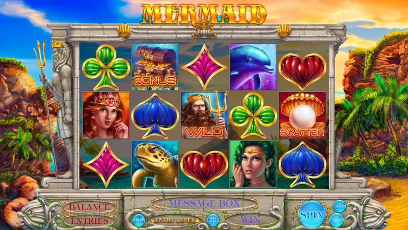 "Game design of the online slot game ""Mermaid"""