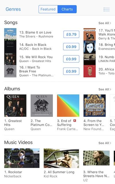 The SIlvers - iTunes UK No 13 Rock Charts