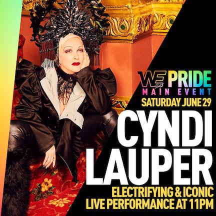 Cyndi Lauper Performs Pride Festival at Javits Center