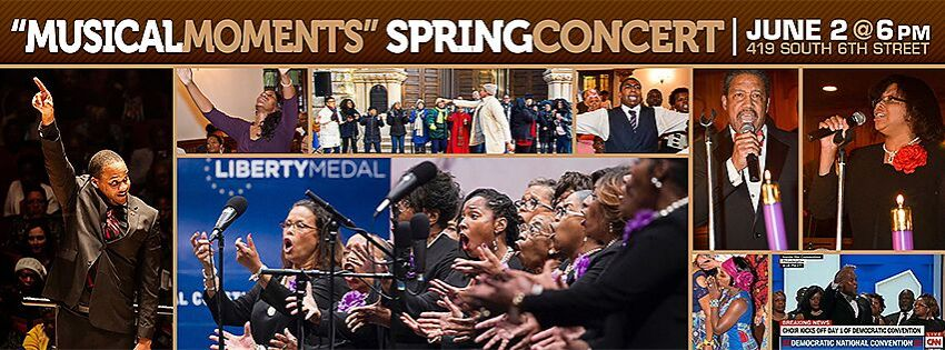 "Mother Bethel AME Church Mass Choir Presents ""Musical Moments,"" Sunday, June 2"