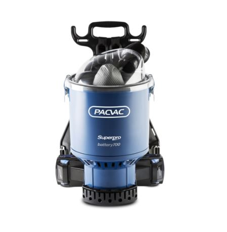 The Pacvac Superpro Battery 700 Advanced backpack vacuum