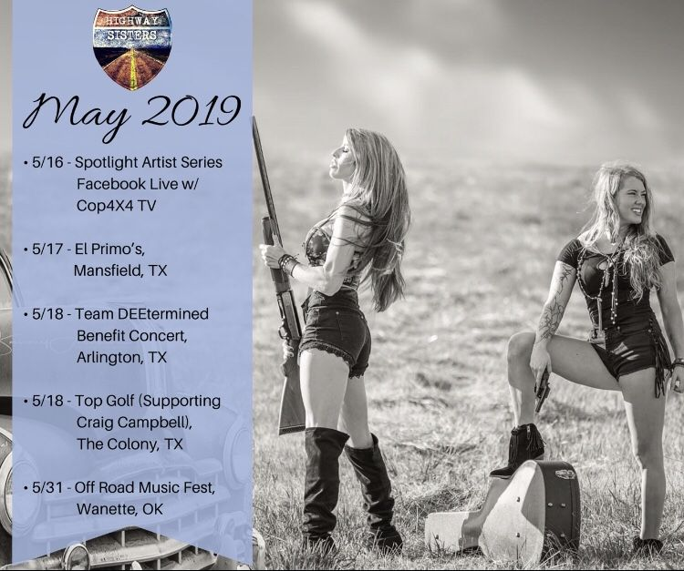 All Highway Sisters' May 2019 Tour Dates