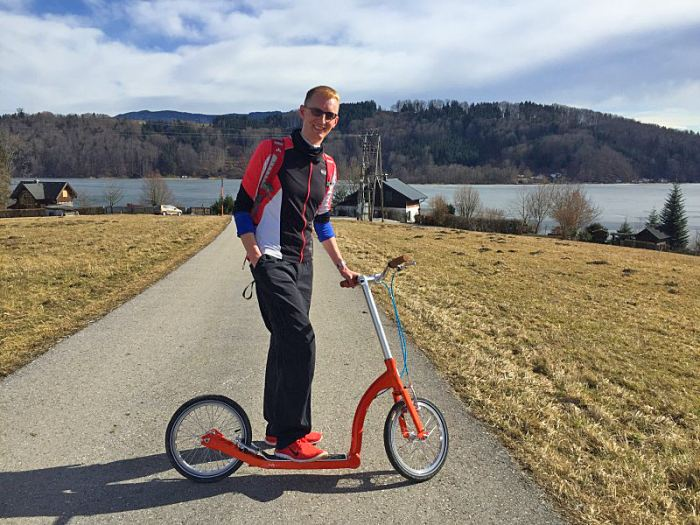Kick scooter travel!