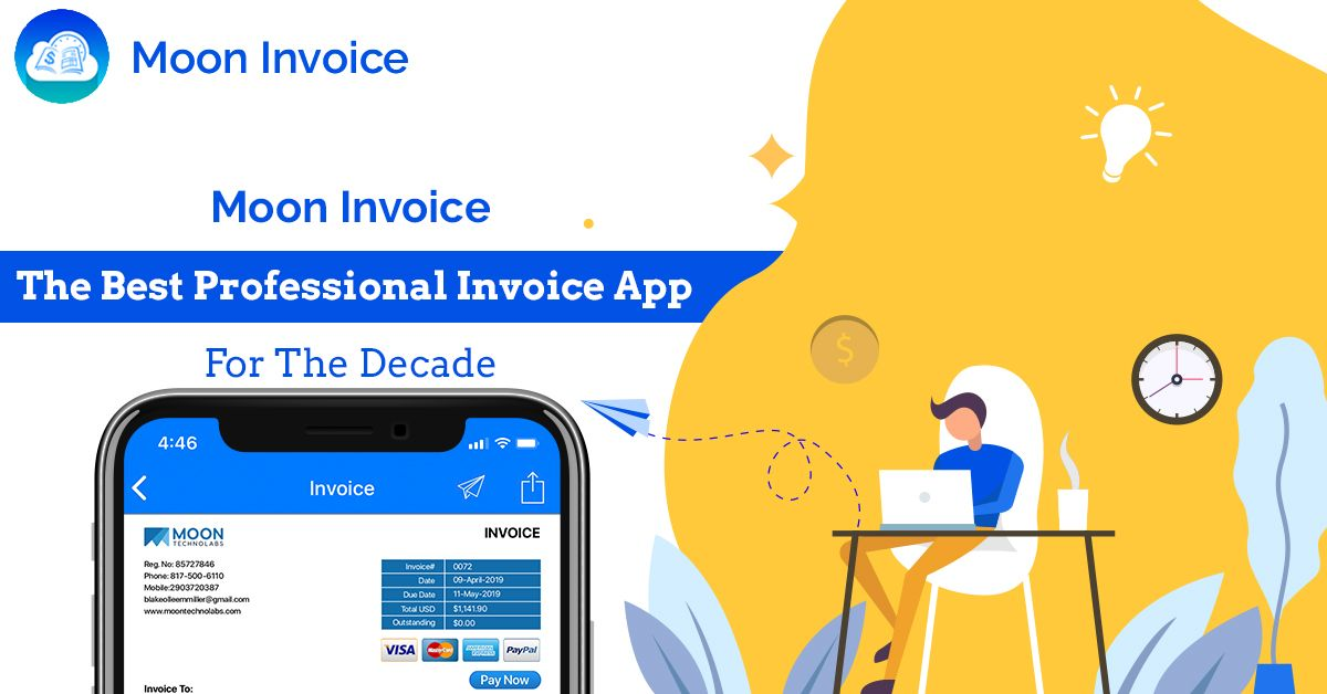 Moon Invoice The Best Professional Invoice App For
