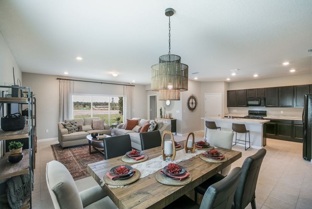 Lennar's Trevi model at TrailMark features rich environmental tones and textures