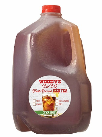Woody's Bar-B-Q is Introducing Gallon To-Go Tea Jugs at particpating locations