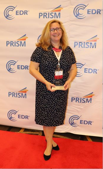 Elizabeth Krol at the EDR PRISM Award ceremony