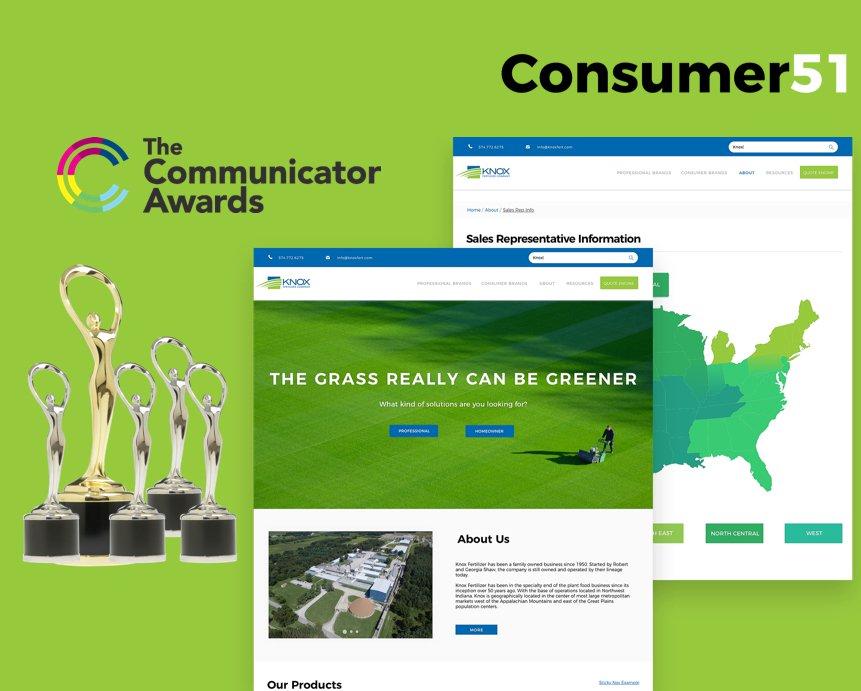 The Knox Fertilizer Website Won 5 Communicator Awards