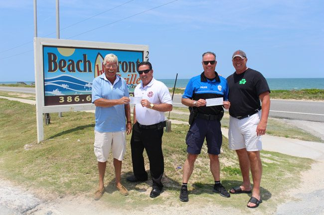 Last Year's Donation to Flagler Beach Police Dept & Flagler County Fire Dept.