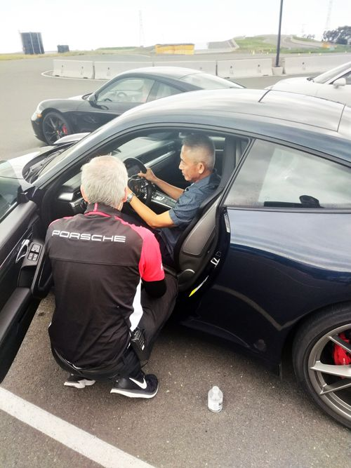 Clients had an opportunity to experience the thrill of the race track