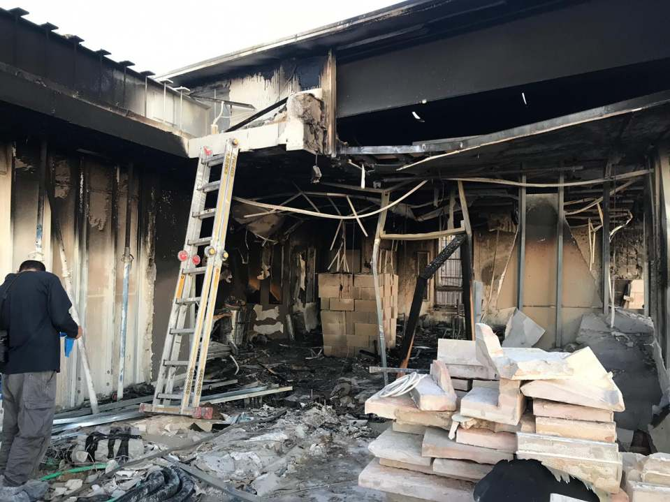 Daystar's Jerusalem, Israel Studio after a Fire Bomb