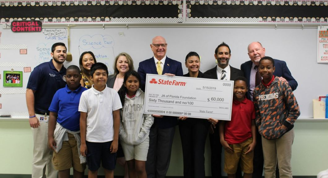 State Farm presents grant to Junior Achievement of Southwest Florida