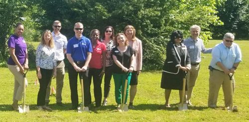 HomeAid & House of Dawn supporters break ground for the new Second Chance Home.