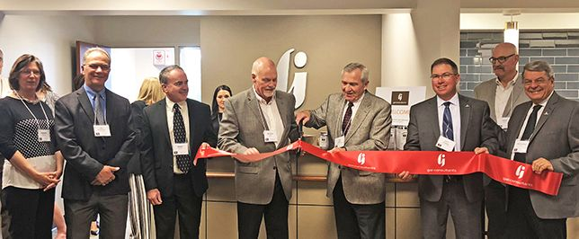 Ribbon cutting at GAI Consultants' Fort Wayne open house event on May 16