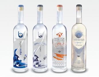 Bluewater Vodka, Halcyon Gin, Wintersun Aquavit