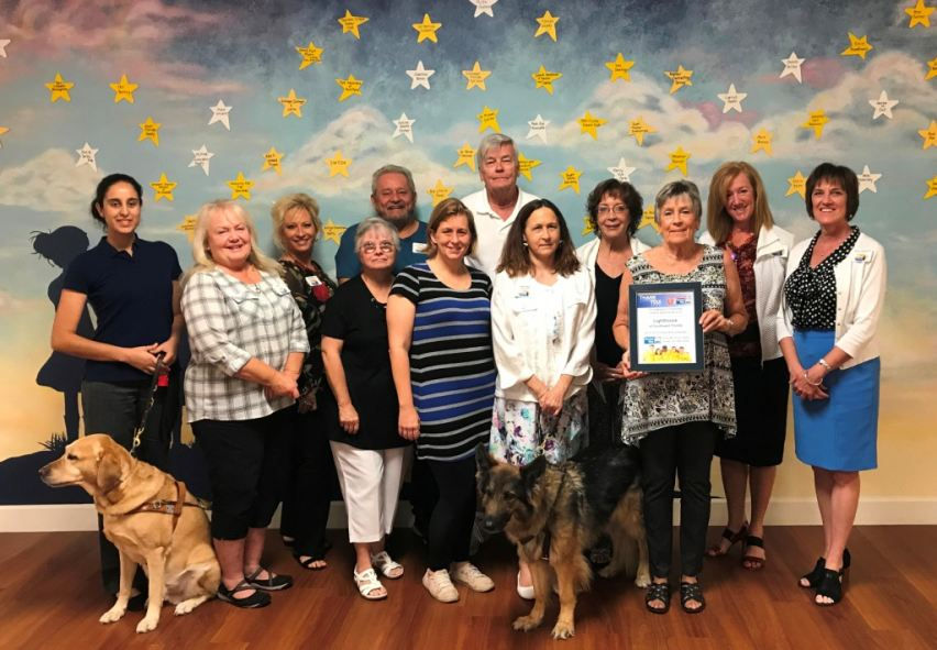 Lighthouse of SWFL staff celebrates a successful United Way campaign