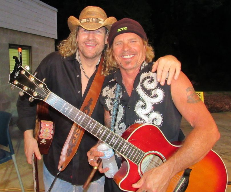 Anthony Smith (L), & Jeffrey Steele performed at the PCSF in May.