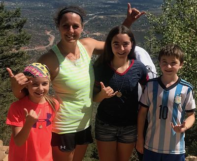 Allison Crouder and her family enjoying the outdoors in Denver, Colorado!