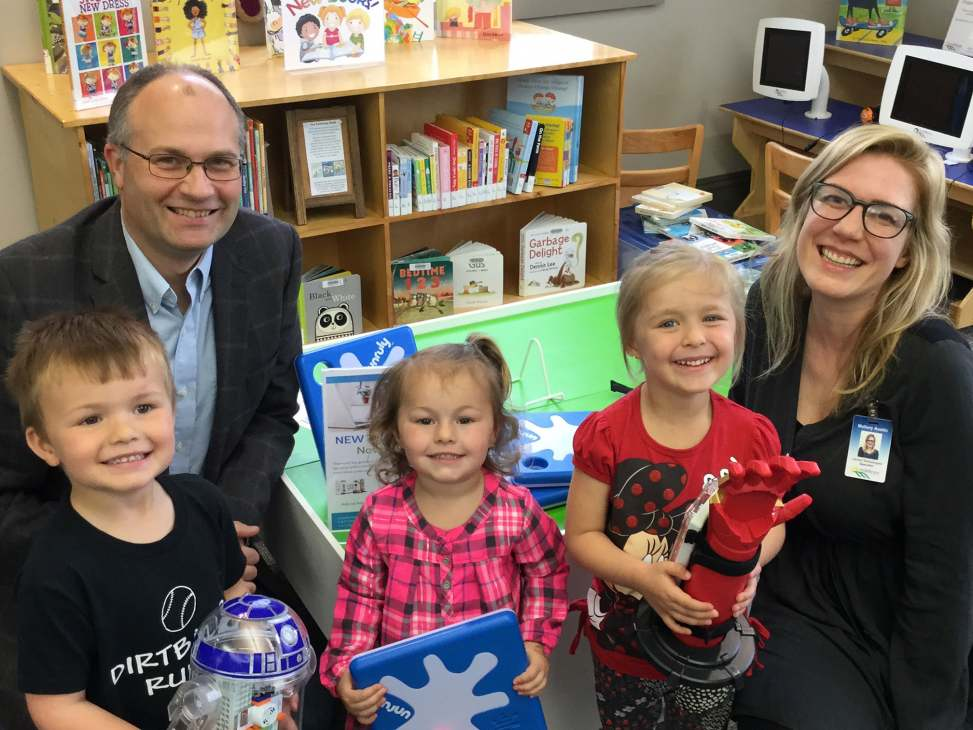 Ian Stevens, Mallory Austin and Library Patrons PR