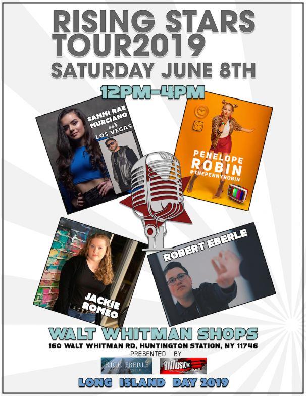 Rising Stars Tour at Walt Whitman Shops June 8th