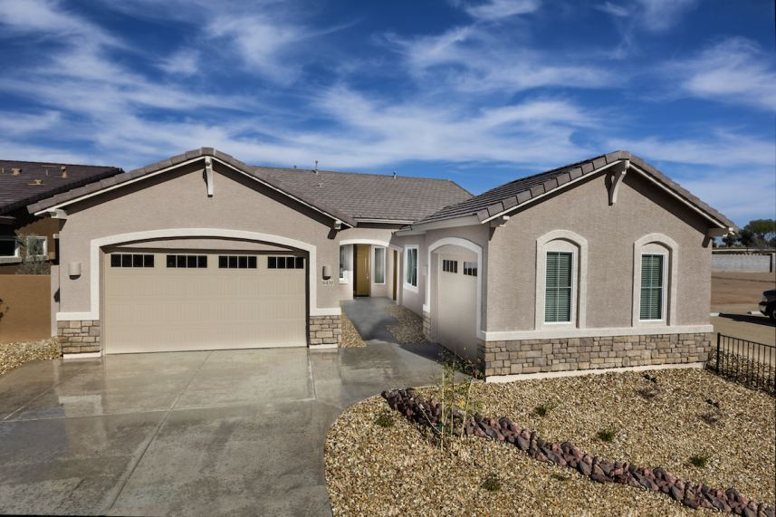 New homes in Surprise showcasing modern designs including homes with RV garages