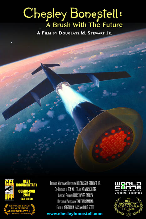 CHESLEY BONESTELL A BRUSH WITH THE FUTURE POSTER ART