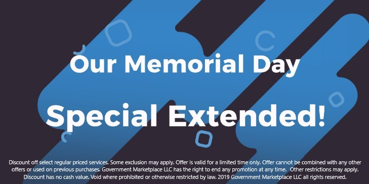 Memorial Day Special Extended