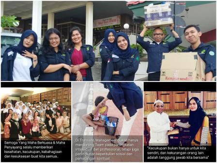 Photo Collage Of CSR Ramadhan 2019 - Transafe