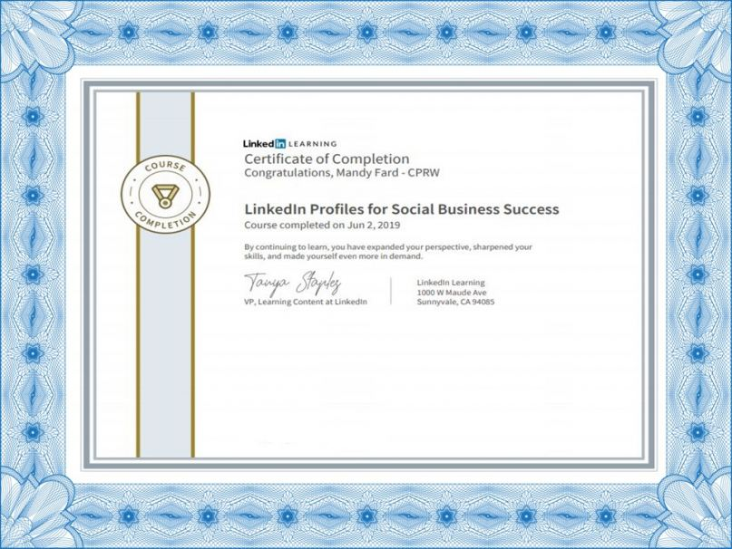 Market-Connections Resume Service is certified in