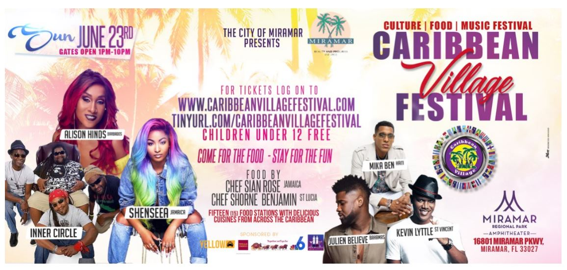 Caribbean Village Festival June 23, 2019