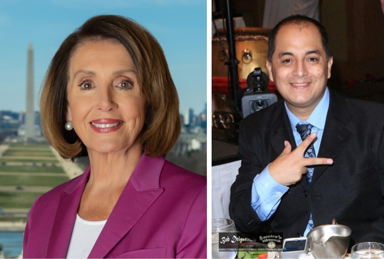 Speaker Nancy Pelosi and Steven Escobar